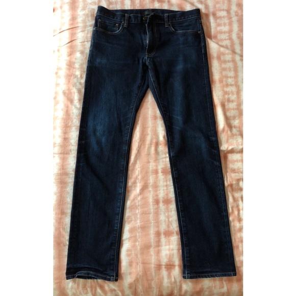 0b0d943c551695 Uniqlo Men's Stretch Selvedge Slim Fit Jeans. M_5b3bccfc04e33d777e7dc8cf